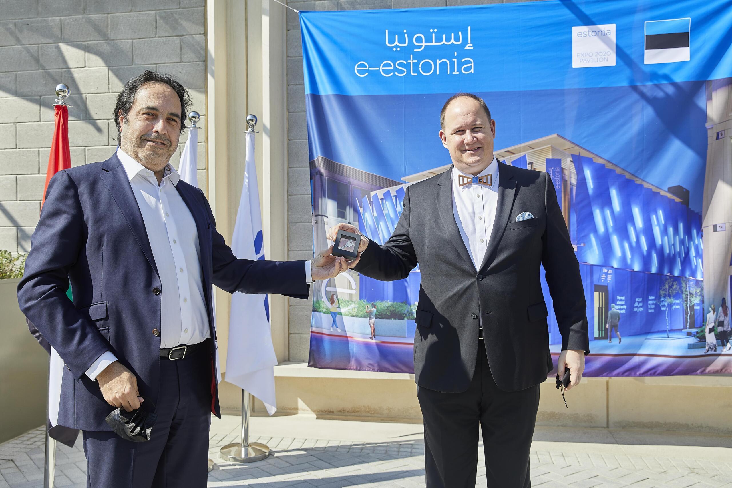 Pildil Eesti Expo 2020 peakomissar Daniel Shcaer ja Dubai Expo 2020 rahvusvaheliste partnerite direktor